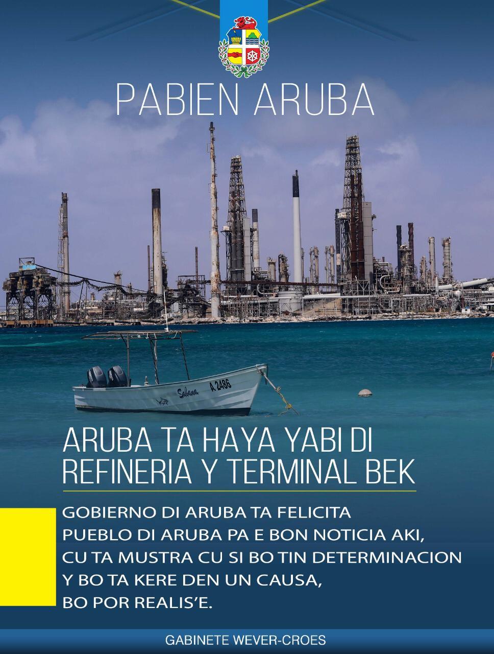 ARUBA TA HAÑA YABI DI REFINERIA I TÈRMINAL BÈK
