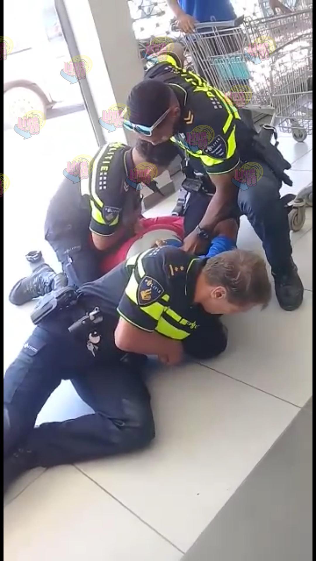 HÒMBER KU A OFENDÉ POLIS I RESISTI FUERTEMENTE A KEDA DETENÉ