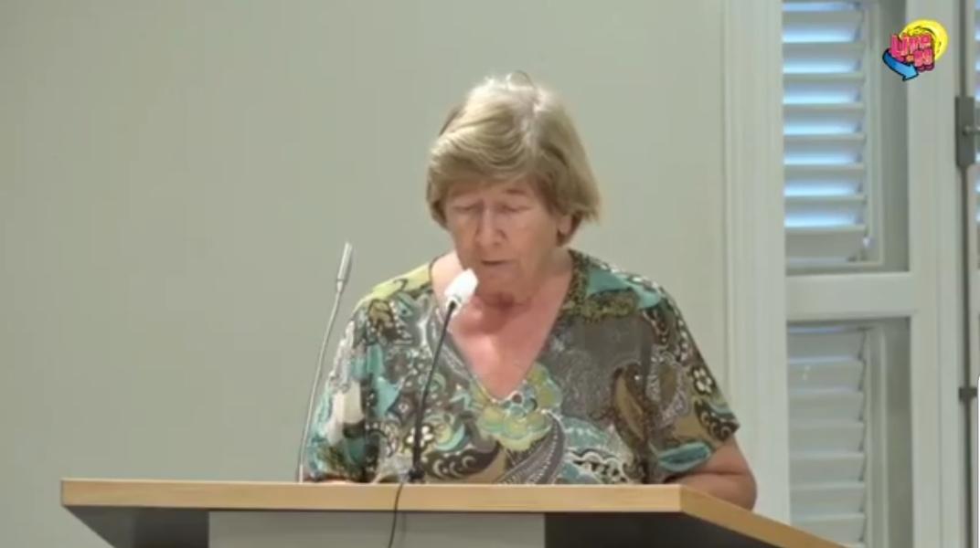 Spich di dr. Marian Luinstra-Passchier riba 19 di sèptèmber