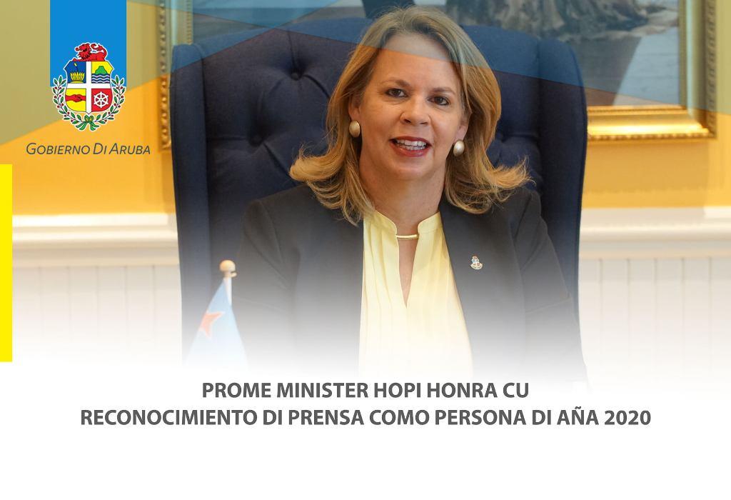 EVELYN WEVER-CROES HONRA CU RECONOCIMIENTO DI PRENSA COMO PERSONA DI AÑA 2020