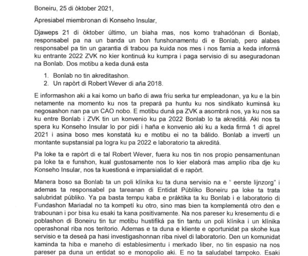 2022 ZVK NO KIER KONTINUÁ KU KUMPRA I PAGA SERVISIO DI SU ASEGURADONAN NA BONLAB.