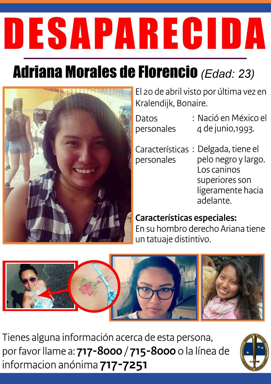 Demanda 22 aña prisòn pa asesinato Adriana Morales de Florencio.