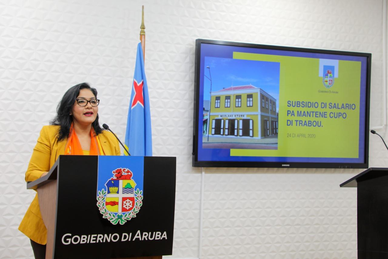 MINISTER XIOMARA MADURO A FIRMA ACUERDO DI PRESTAMO PA RICIBI SOSTEN DI LIKIDEZ FO'I REINO HULANDES